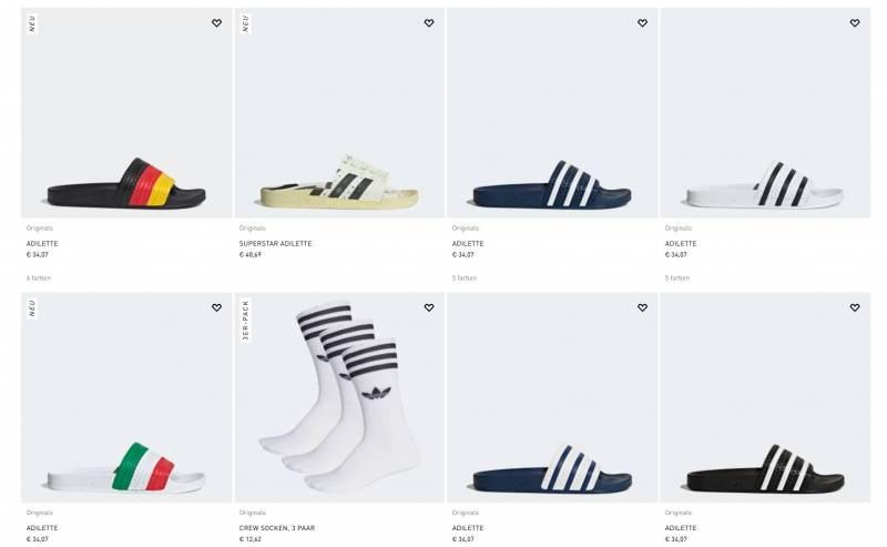 Adidas Slipper alle