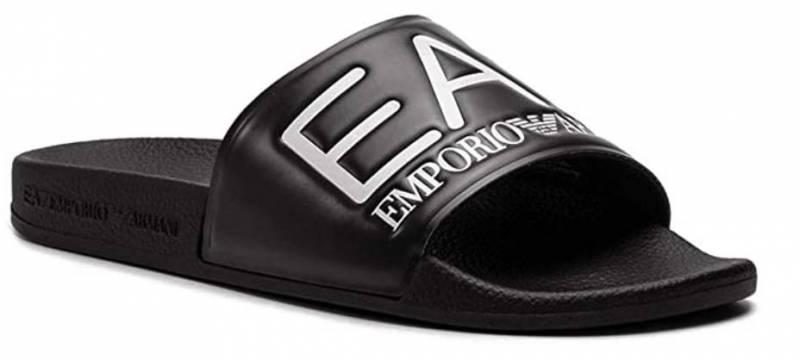 EA7 Visibility Sandalen schwarz