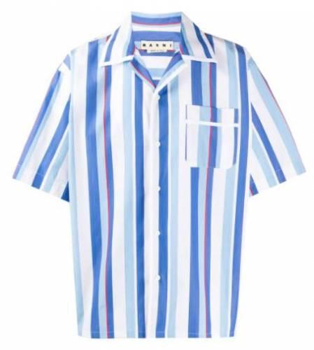 KC Rebell Hemd blau gestreift