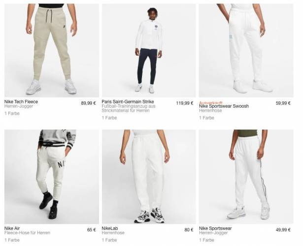 Nike Jogger weiss alle