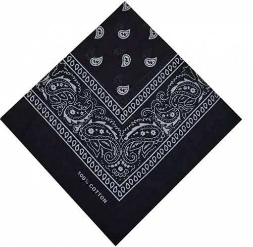 bandana tuch schwarz