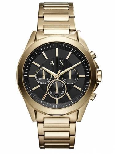 Armani Exchange Herren Analog Quarz Uhr mit Edelstahl Armband