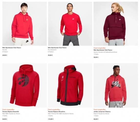 Rote Nike Hoodies