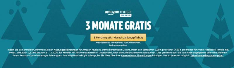 Amazon Unlimited 3 Monate kostenlos