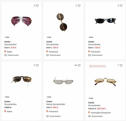 Cartier Sonnenbrillen vintage