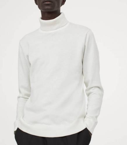H&M Rollkragenpullover weiß