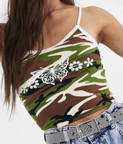 Shirin David Outfit Crop Top Camouflage