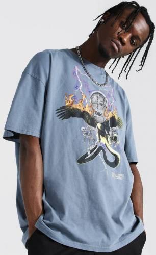 Falke Skelett Blitz T-Shirt